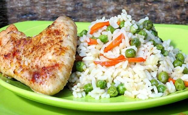 Рис с куриными крылышками и овощами. Сытное и вкусное блюдо в духовом шкафу 2
