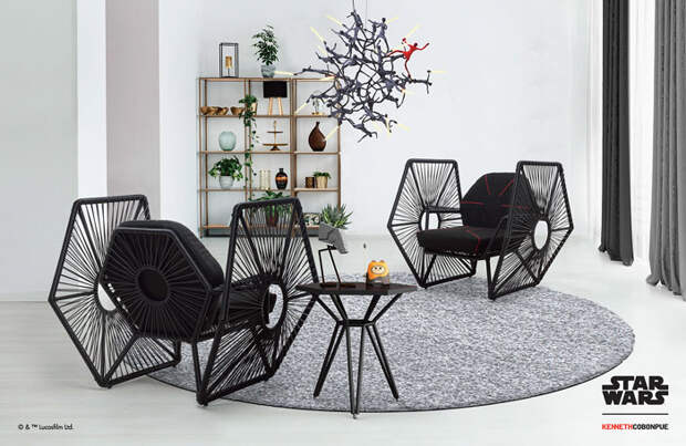 6 крутых фото мебели, дизайн которой вдохновлен «Звездными войнами»