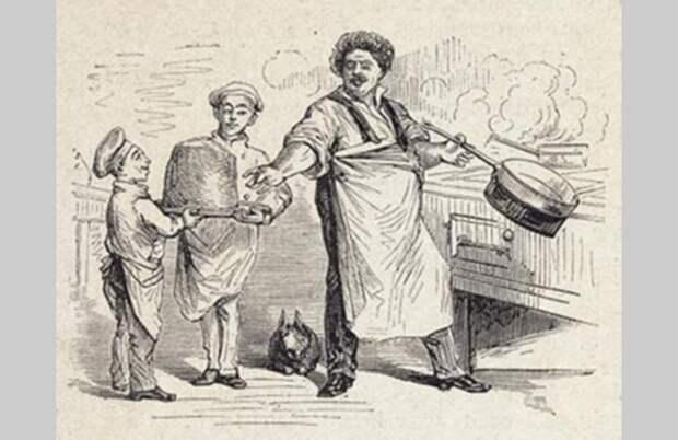 Карикатура «Дюма у печи»