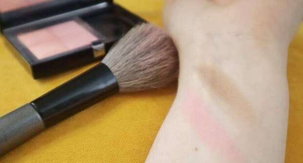 Скульптор коричнево-серый, а румяна розовые