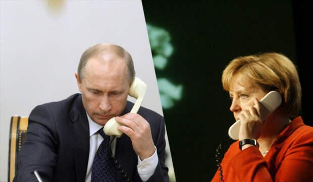 Путин рассказал Меркель об оказании Россией гуманитарной помощи Украине