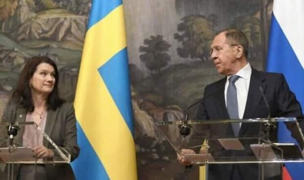 «Атака от Лаврова» или как описали в Швеции встречу Анн Линде с Лавровым и их беседу о Навальном