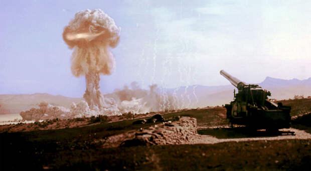 Программа Upshot-Knothole Grable включала в себя запуск порядка 280 снарядов мощностью около 15 килотонн каждая из атомной пушки М65, 25 мая 1953 года.