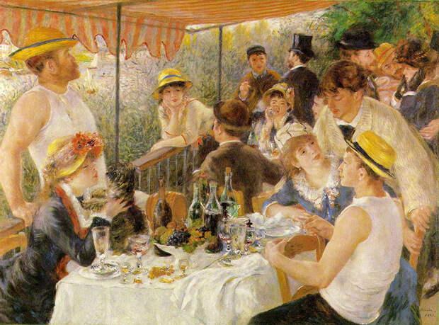 11. Пятнистый свет и счастливые люди на вечеринке, это Ренуар.