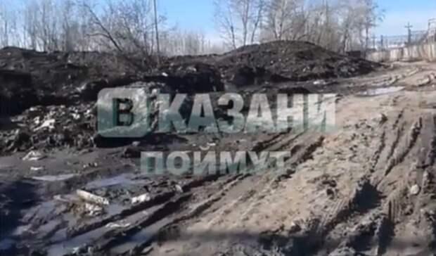 Наказанском пляже «Локомотив» нашли свалку снега