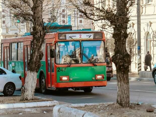Троллейбусы не будут ходить 18 мая в Чите от Соснового Бора до Вокзала из-за аварии