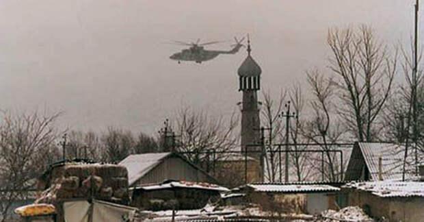 Военный вертолет. Кизляр. Фото http://spec-naz.org/
