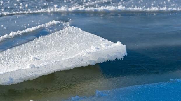 Спасатели сняли женщину со льдины в Омске