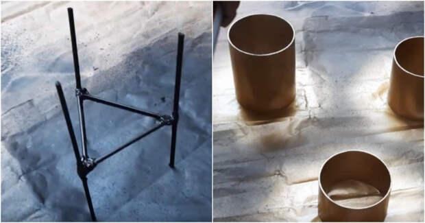 Идея красивого декора из пластиковой трубы