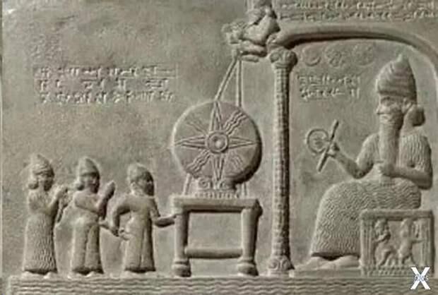 Шумерское божество Уту (Шамаш в аккад...