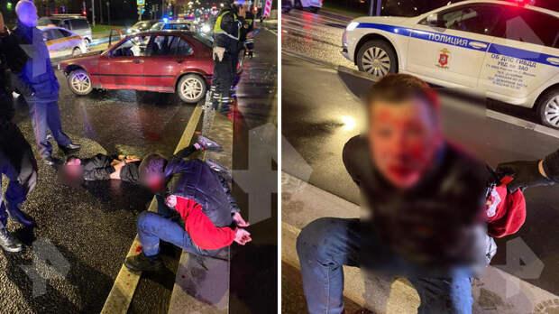 Фото лихача на красном BMW после погони со стрельбой в Москве