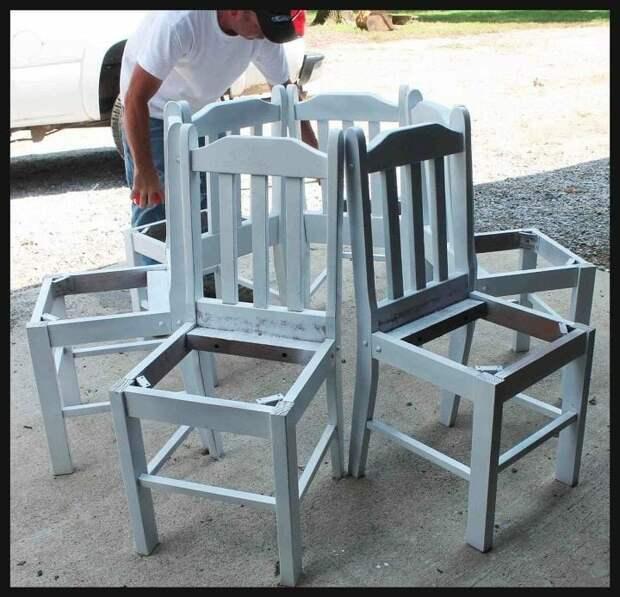 Хоровод из стульев diy