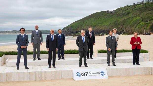 Фото лидеров насаммите G7стало мемом
